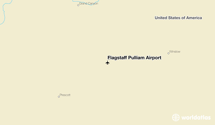 Flagstaff Pulliam Airport location on a map