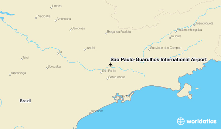 São Paulo–Guarulhos International Airport location on a map