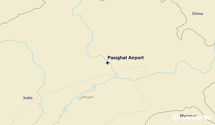 Pasighat Airport location on a map