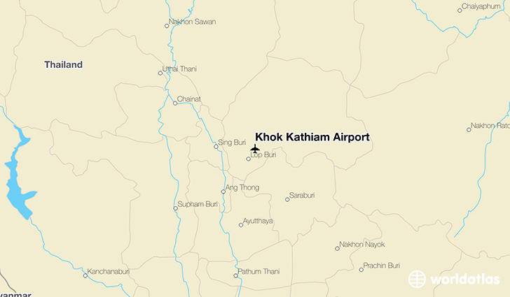 Khok Kathiam Airport location on a map