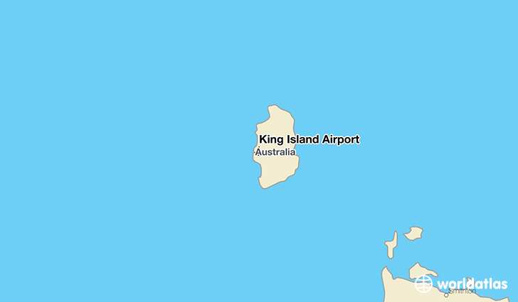 King Island Airport location on a map