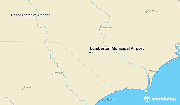 Lumberton Municipal Airport location on a map