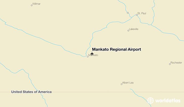 Mankato (MN) United States  City pictures : worldatlas united states minnesota mankato regional airport mankato ...