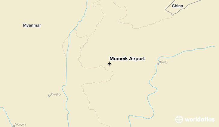 Momeik Airport location on a map
