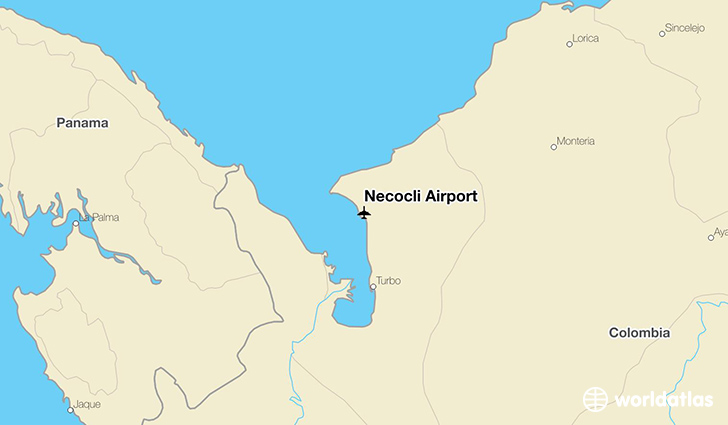 Necocli Airport location on a map
