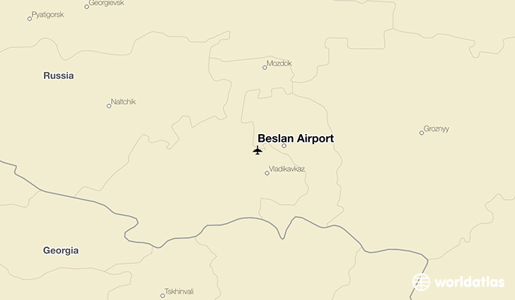 Beslan Airport location on a map