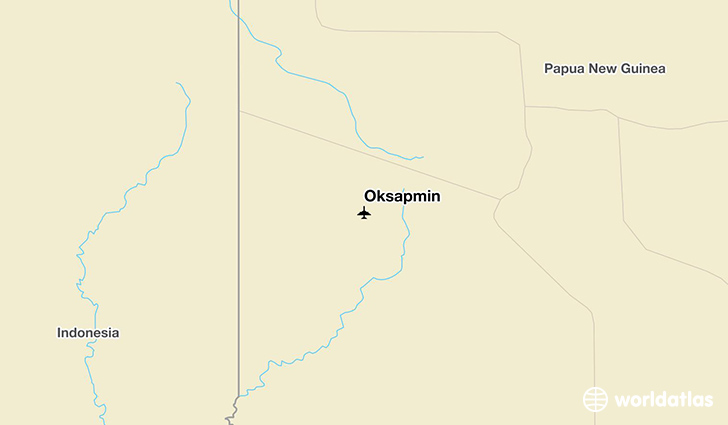 Oksapmin location on a map