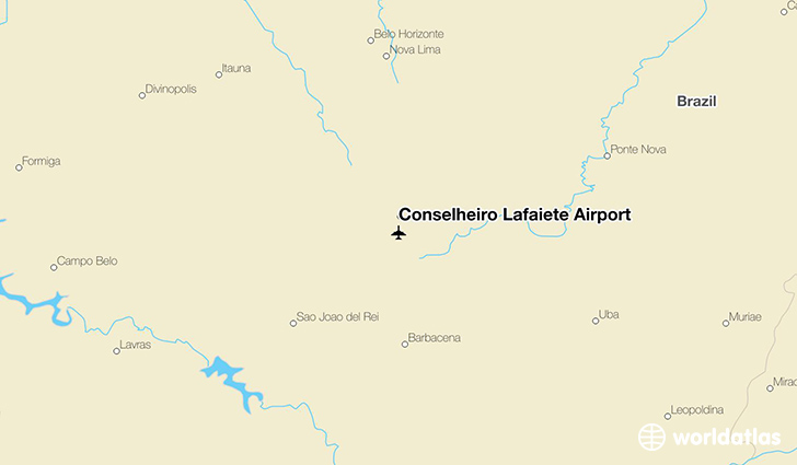 Conselheiro Lafaiete Airport location on a map