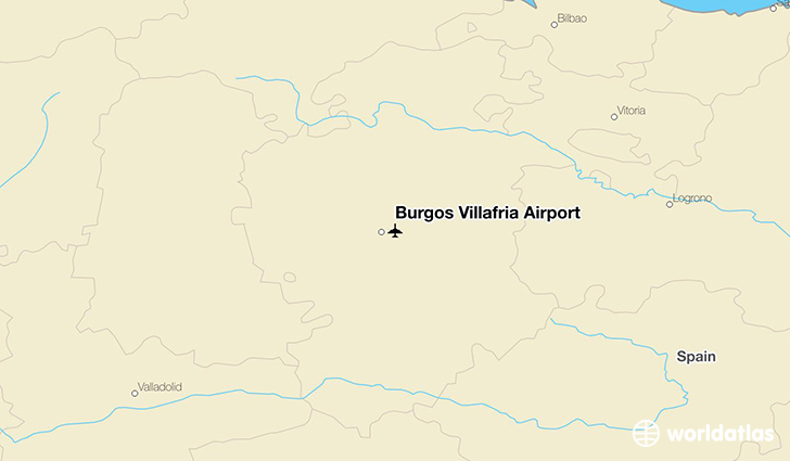 Burgos Villafria Airport location on a map
