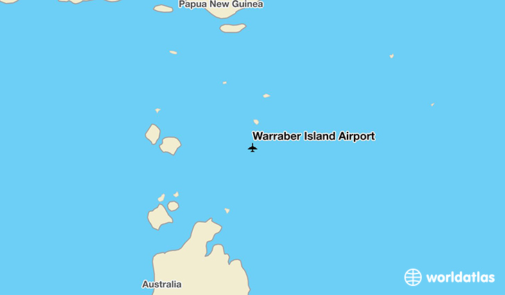 Warraber Island Airport location on a map