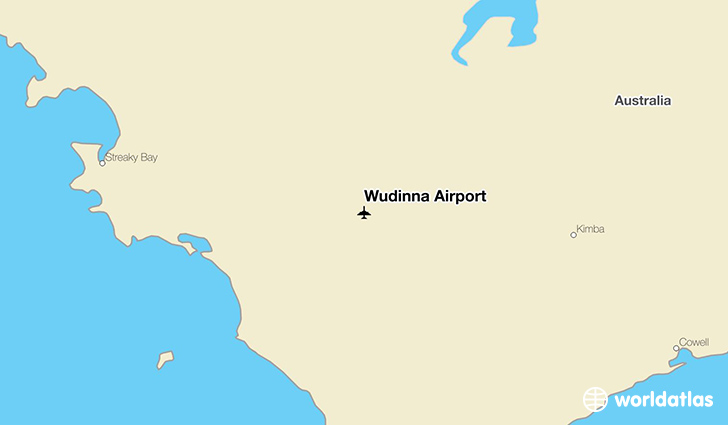 Wudinna Airport location on a map