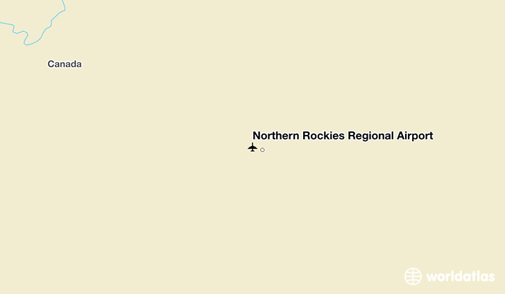 Northern Rockies Regional Airport location on a map