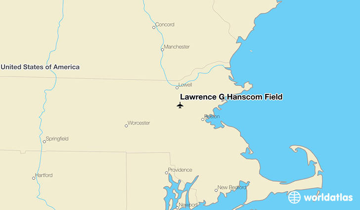 Lawrence G Hanscom Field location on a map
