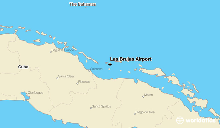 Las Brujas Airport location on a map