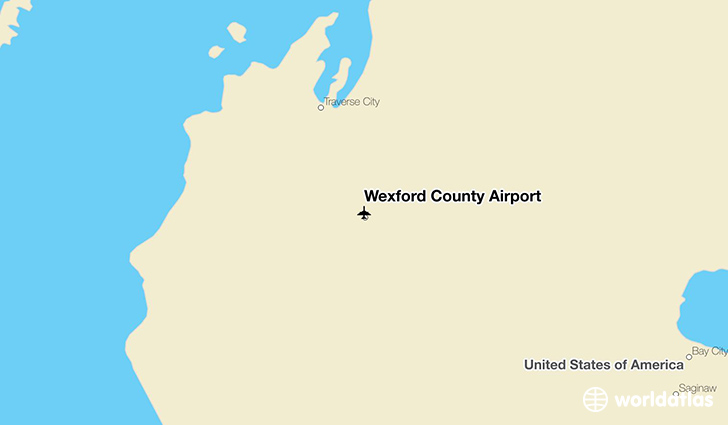 Wexford County Airport location on a map