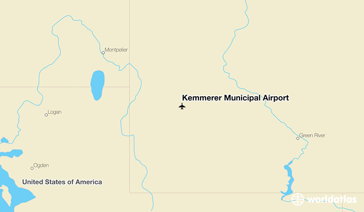 Kemmerer Municipal Airport location on a map