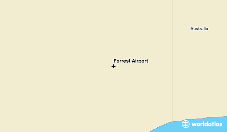 Forrest Airport location on a map