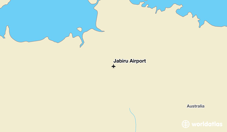 Jabiru Airport location on a map