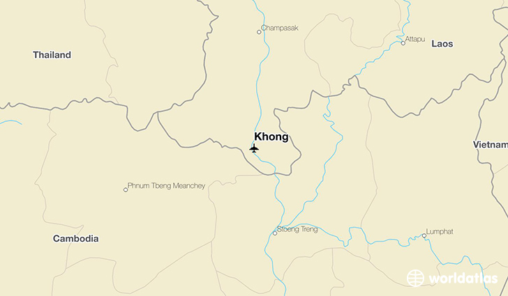 Khong location on a map
