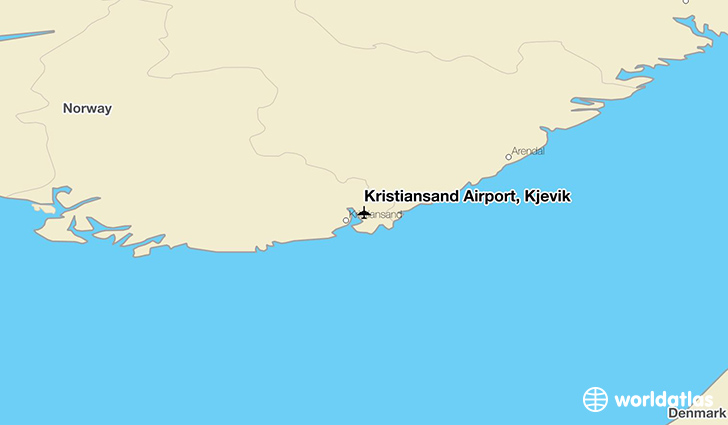 Kristiansand Airport, Kjevik location on a map