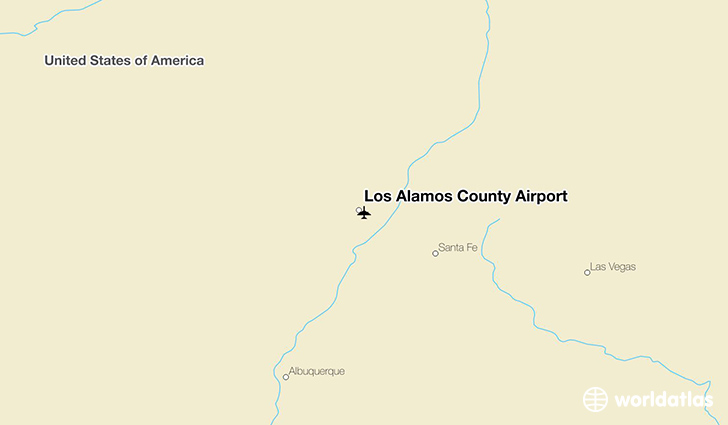 Los Alamos County Airport location on a map