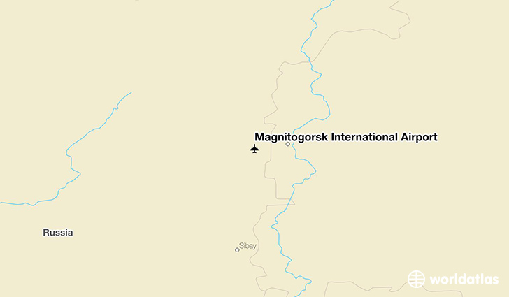 Magnitogorsk International Airport location on a map