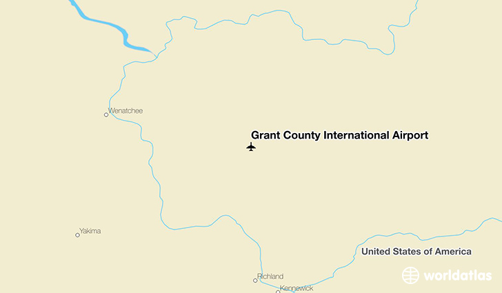 Grant County International Airport location on a map