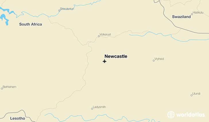 Newcastle location on a map