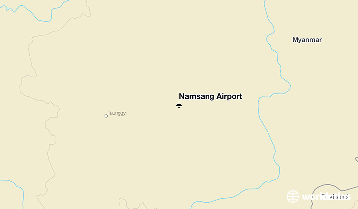 Namsang Airport location on a map