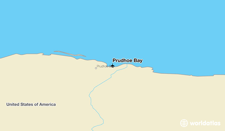 Prudhoe Bay location on a map