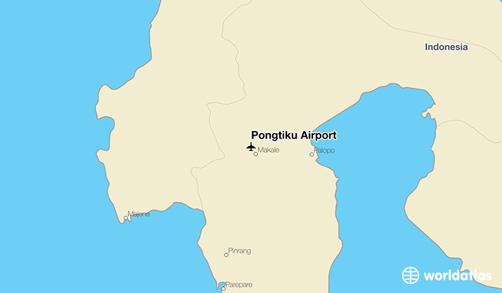 Pongtiku Airport location on a map