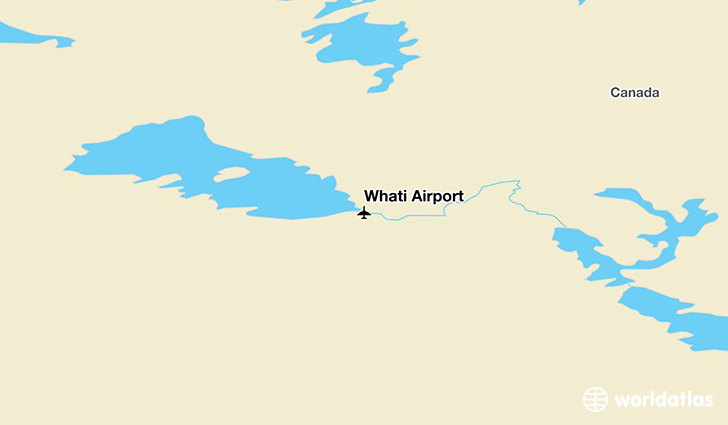 Whatì Airport location on a map