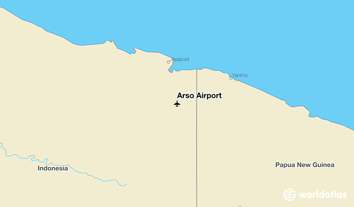 Arso Airport location on a map