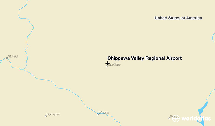 Chippewa Valley Regional Airport location on a map