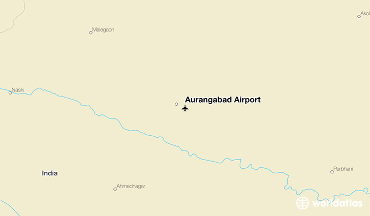 Aurangabad Airport location on a map
