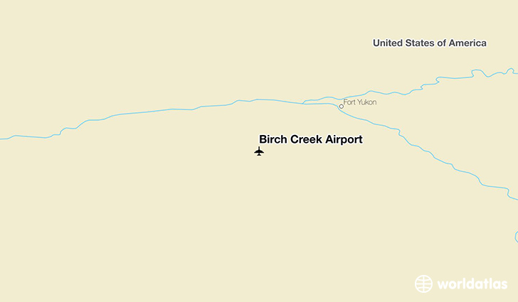 Birch Creek Airport location on a map