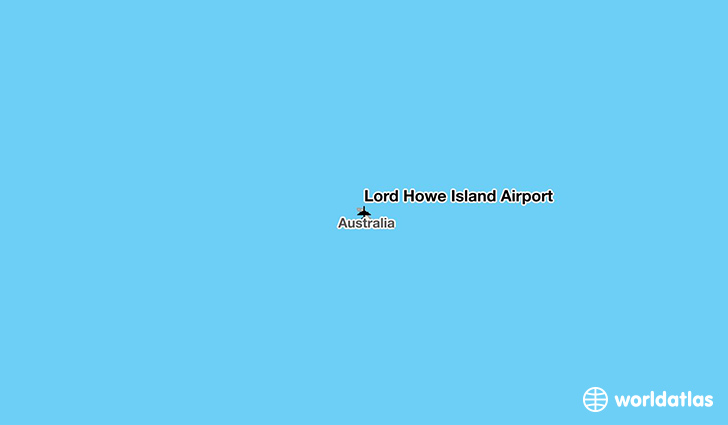Lord Howe Island Airport location on a map