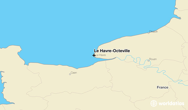 Le Havre-Octeville location on a map