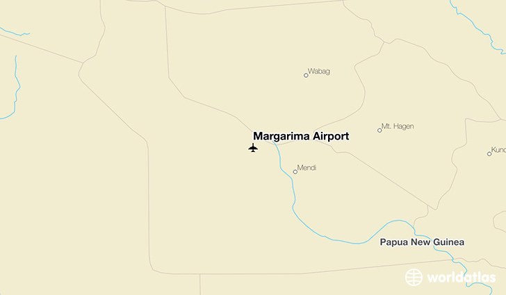 Margarima Airport location on a map