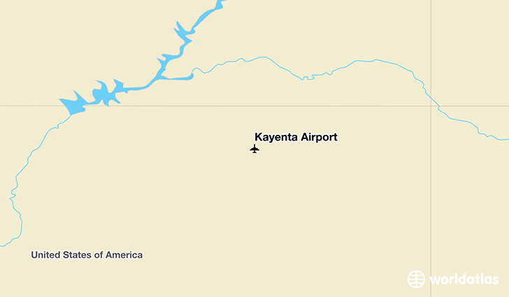 Kayenta Airport location on a map