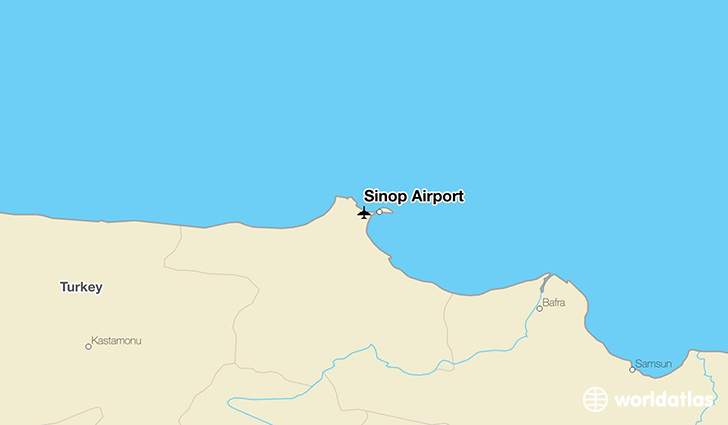 Sinop Airport location on a map