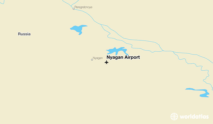 Nyagan Airport location on a map
