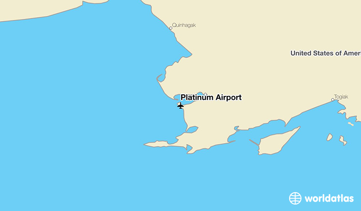 Platinum Airport location on a map