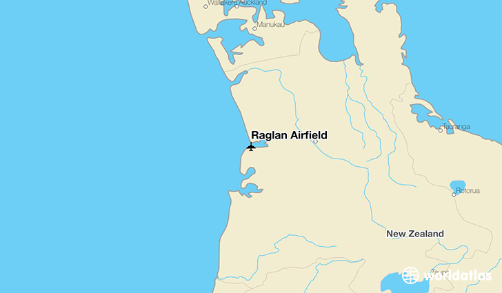 Raglan Airfield location on a map