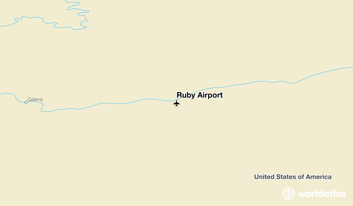 Ruby Airport location on a map
