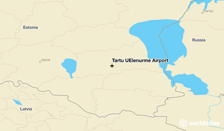 Tartu Ülenurme Airport location on a map