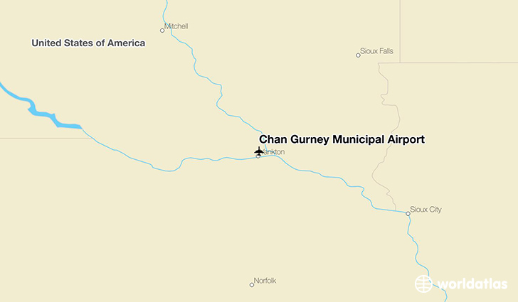 Chan Gurney Municipal Airport location on a map