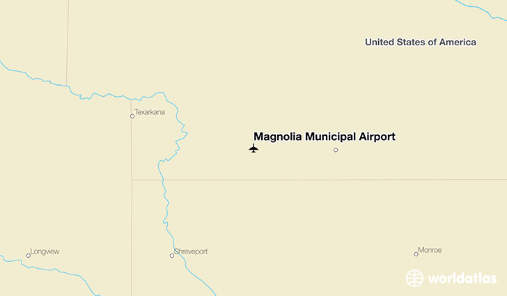 Magnolia Municipal Airport location on a map