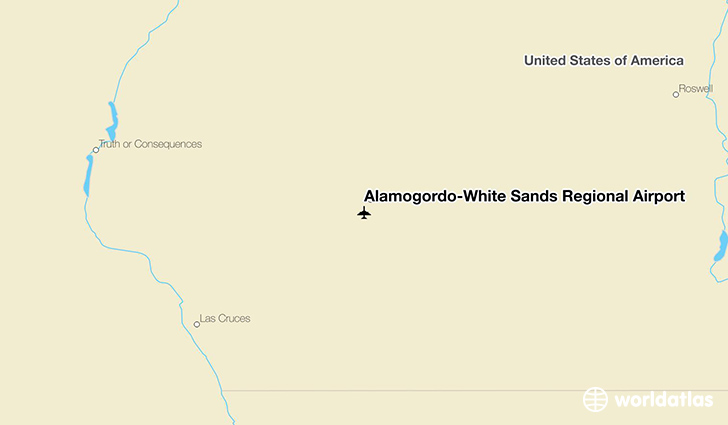 Alamogordo-White Sands Regional Airport location on a map