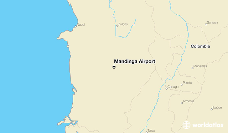 Mandinga Airport location on a map